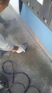 漏水工事の着工