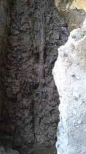水道管から漏水