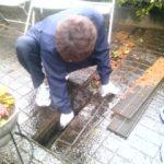排水溝清掃作業
