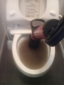 トイレが詰まった状態