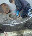 汚水管貫通洗浄